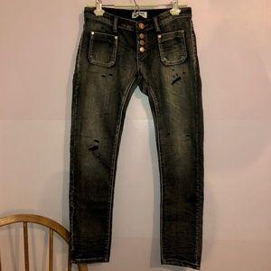 One Teaspoon Black Hart Super Duper Jeans